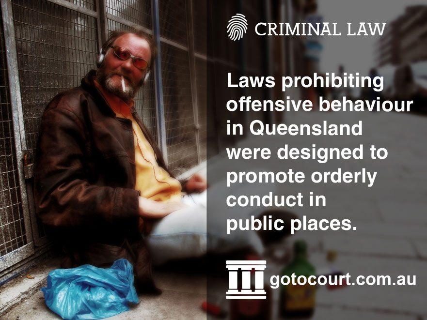 What is Offensive Behaviour in Queensland?