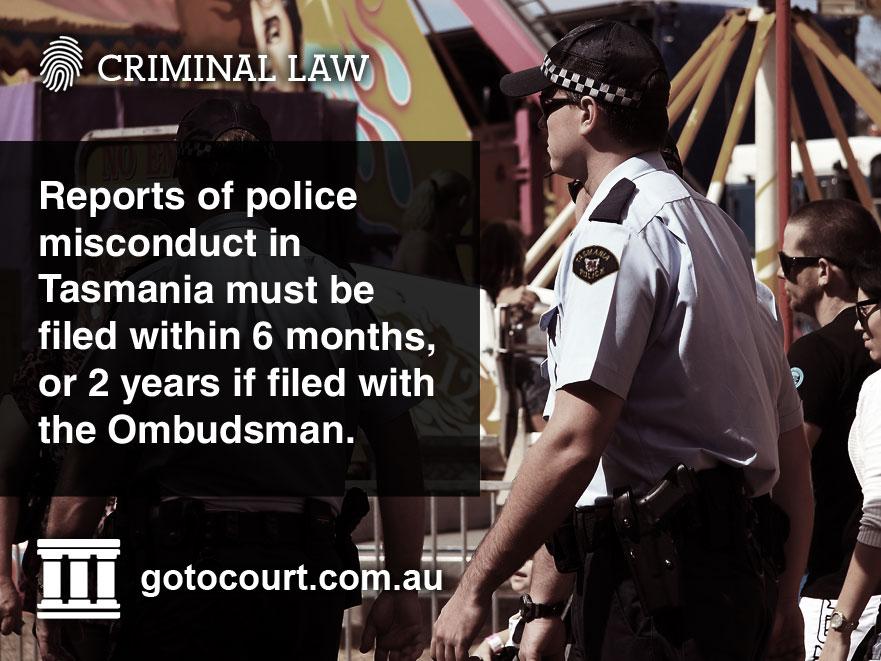 Police Misconduct Tasmania