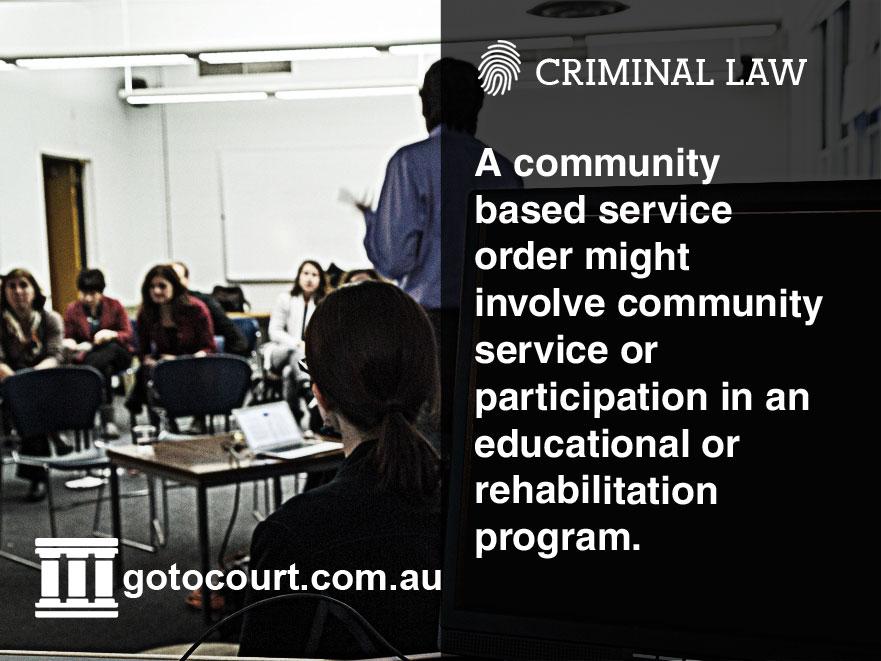 Community based sentence Tas