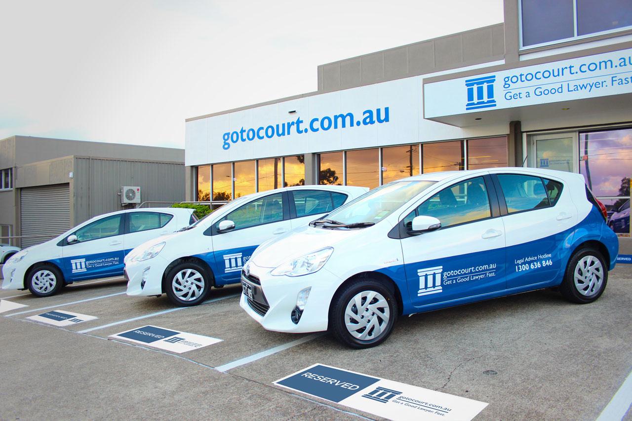 Vehicle fleet- go to court Lawyers
