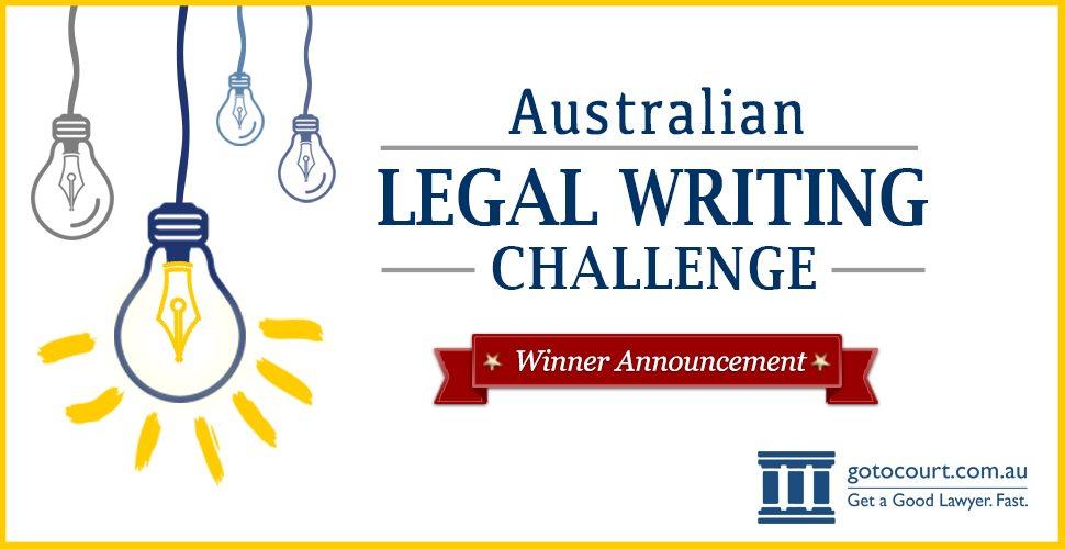 Australian Legal Writing Challenge 2016