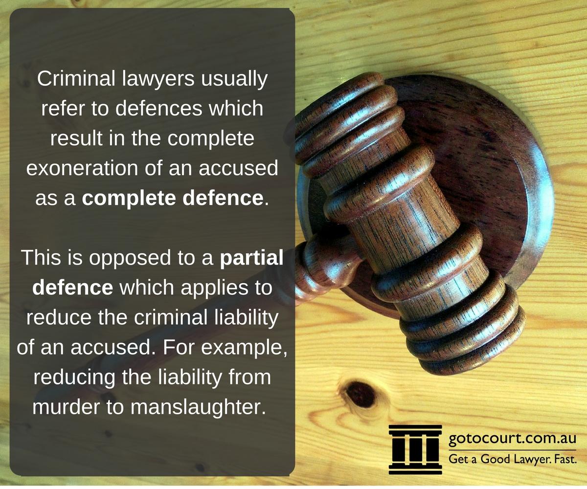 Criminal defences in Queensland