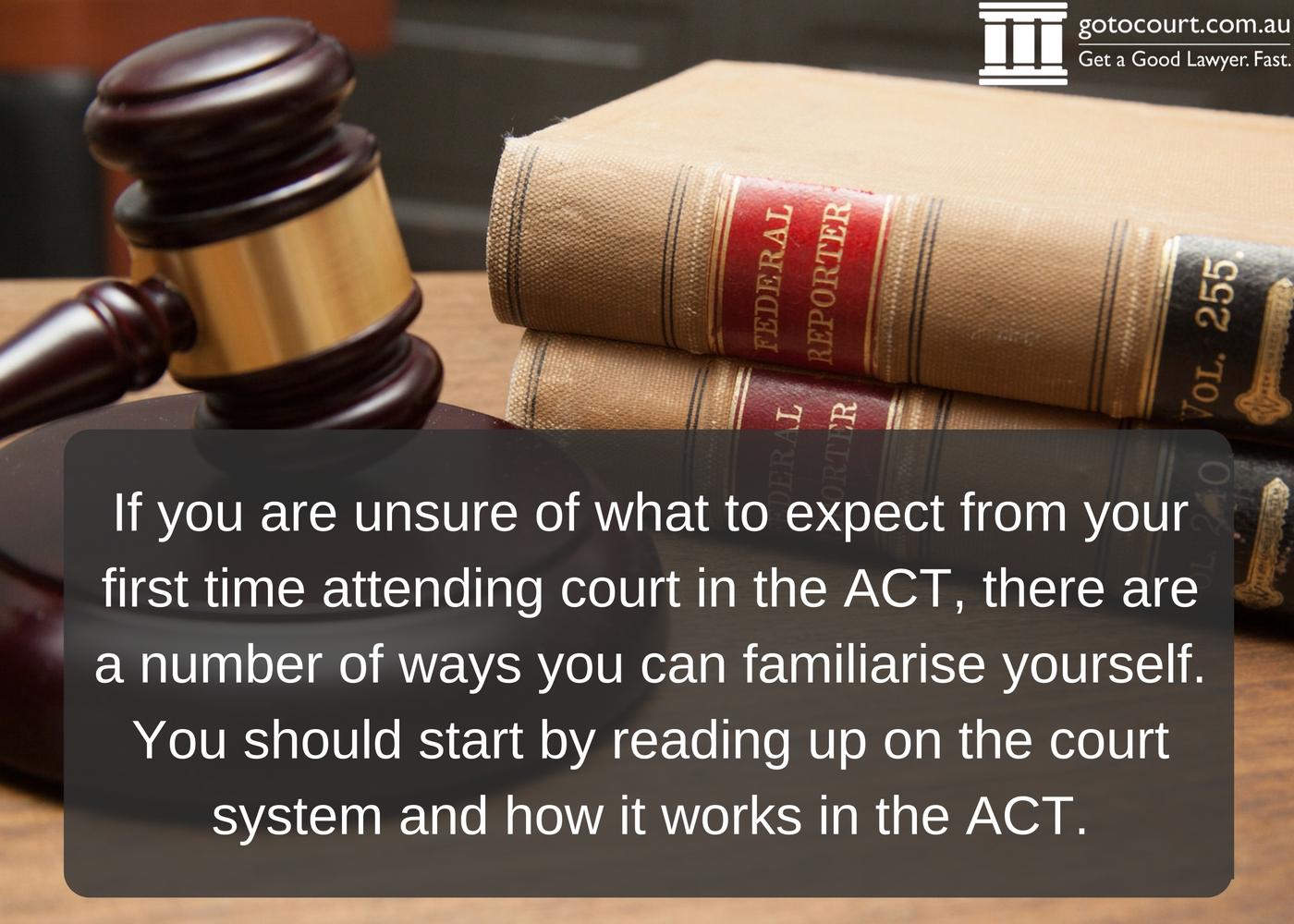 Court Etiquette ACT