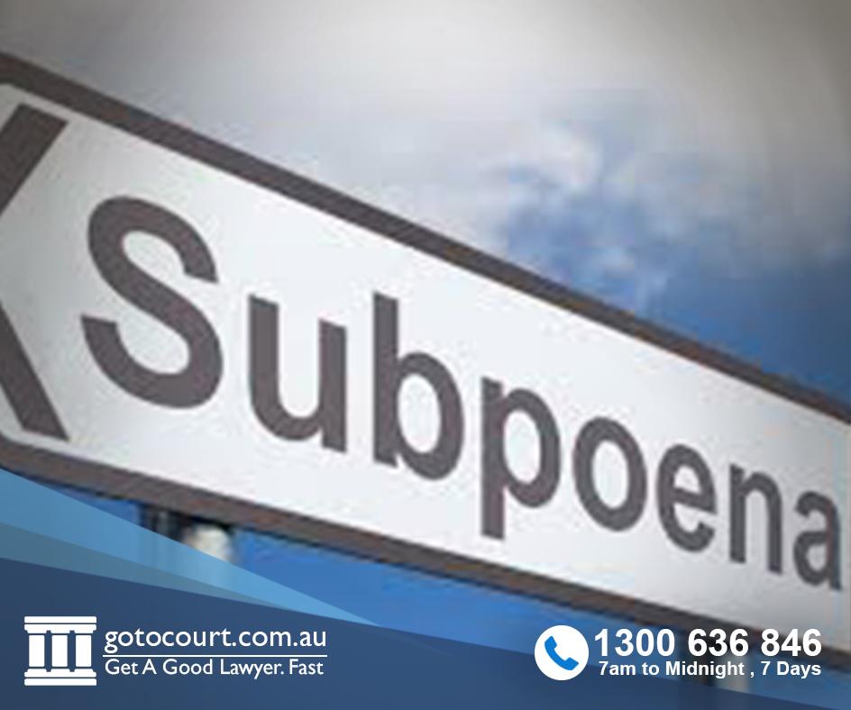 subpoenas