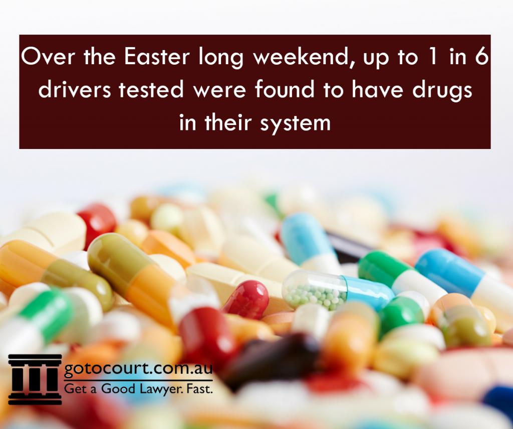 Drug Driving Increased Over Easter 2016 in Australia