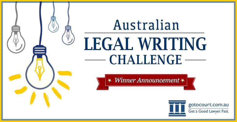 Go To Court Australian Legal Writing Challenge 2016 winner announced