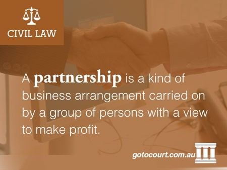 A partnership is a kind of business arrangement carried on by a group of persons with a view to make profit.